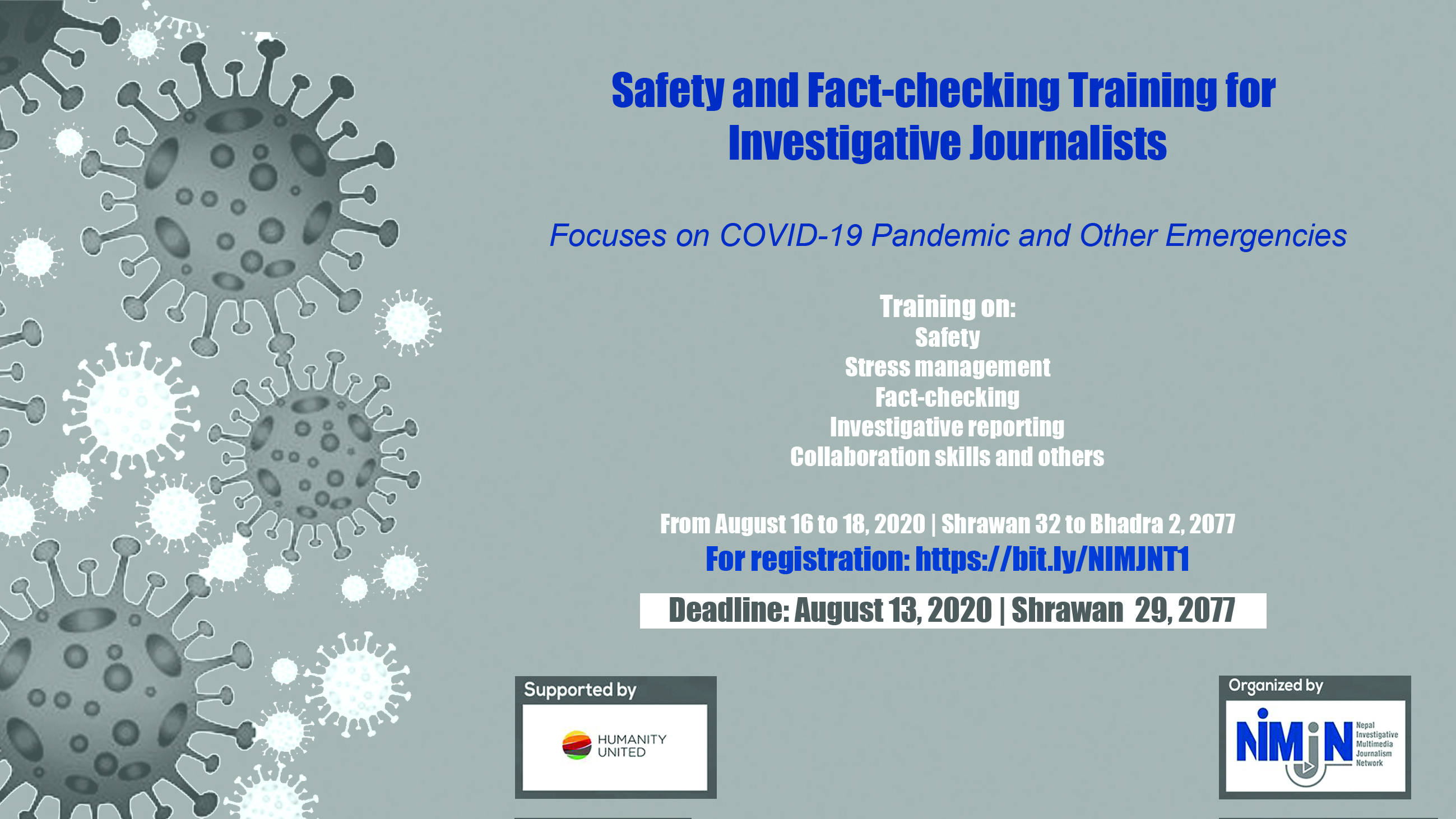 Safety and Fact-Checking Training for Investigative Journalists