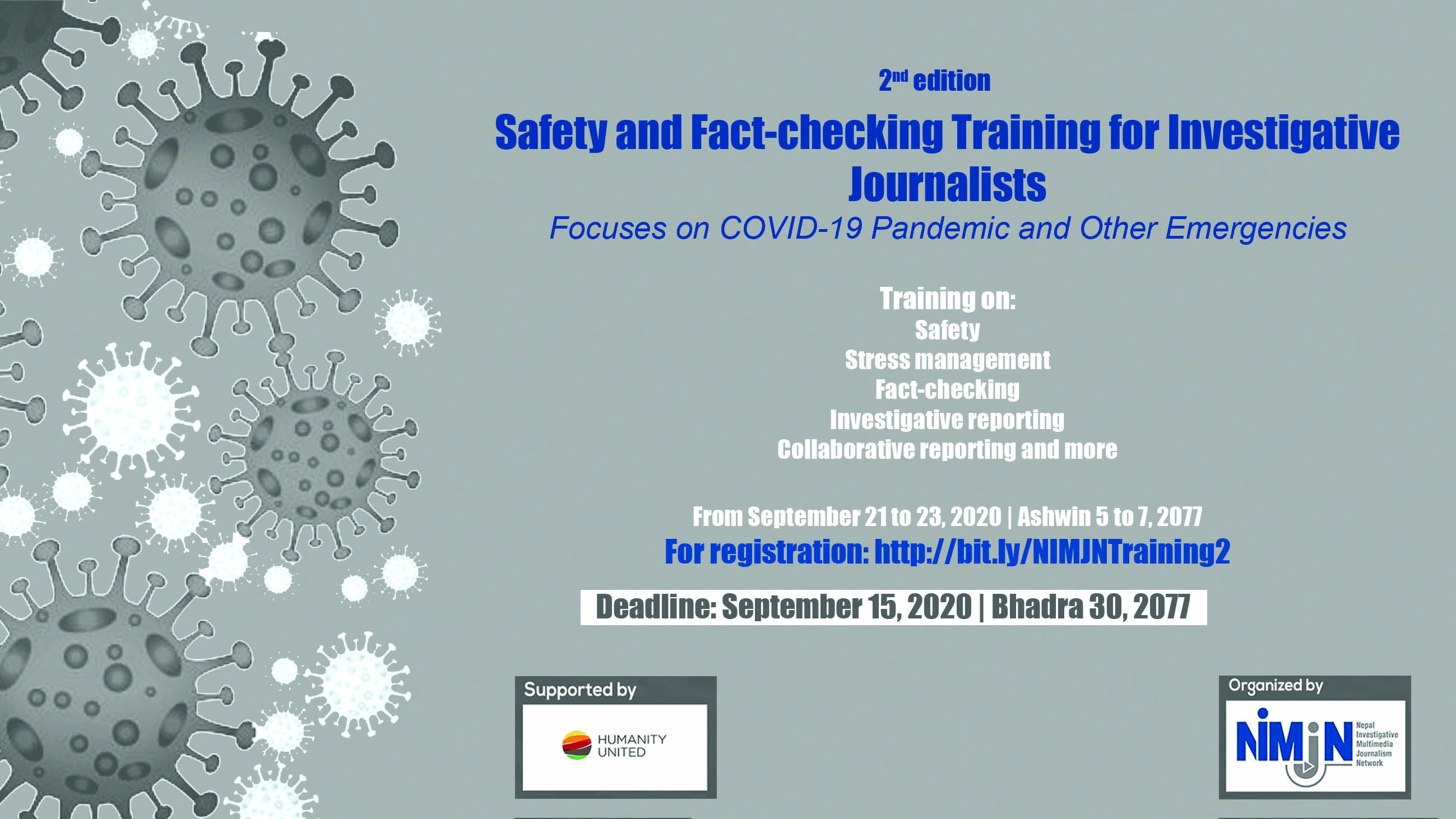 2nd Safety and Fact-Checking Training for Investigative Journalists