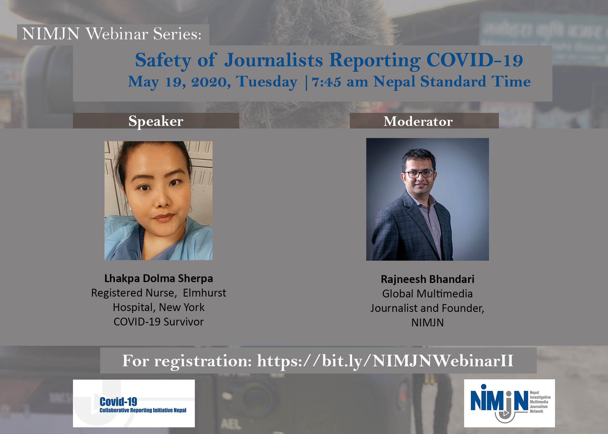NIMJN Webinar: Safety of Journalists Reporting COVID-19