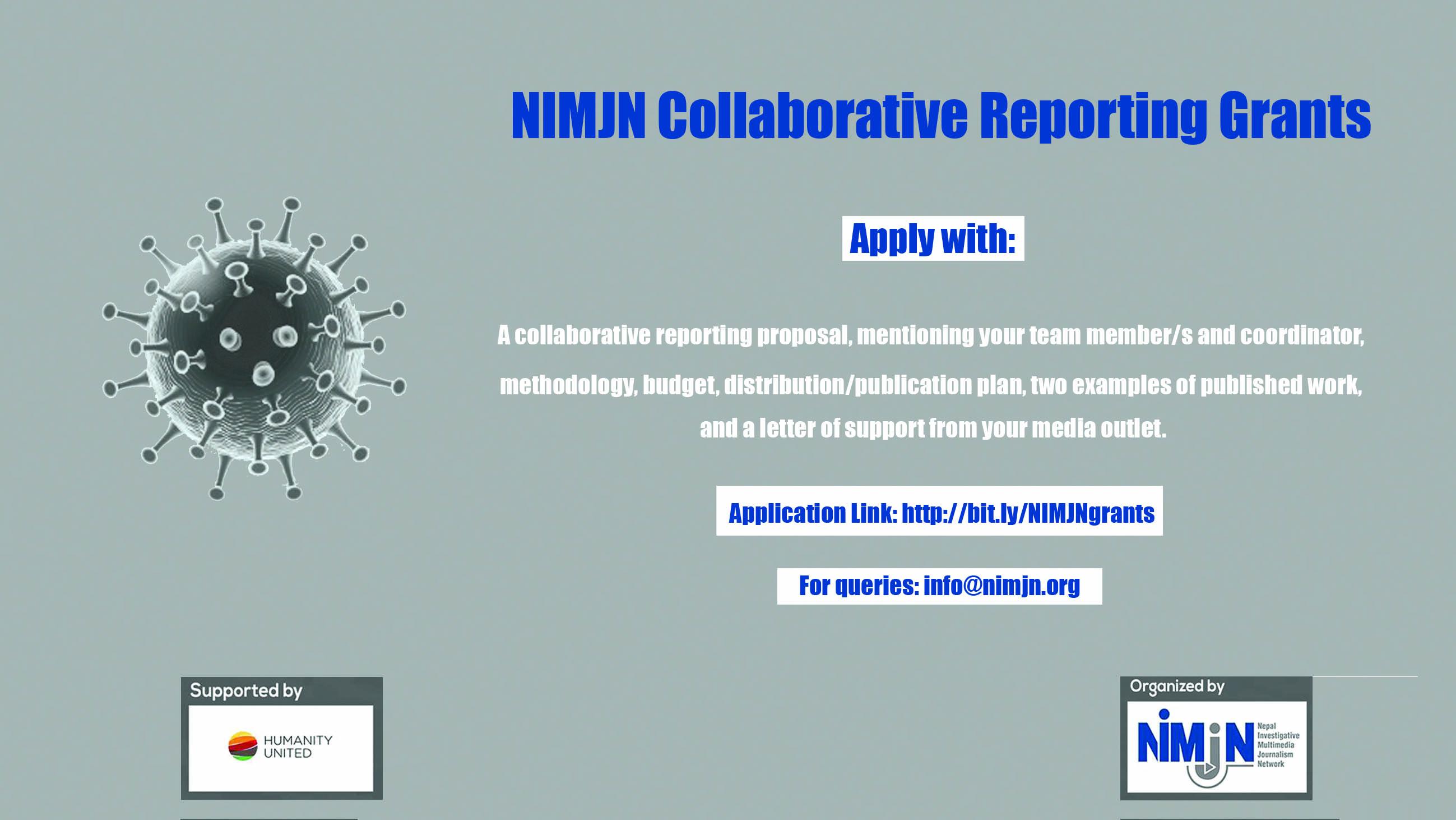 NIMJN Collaborative Reporting Grants